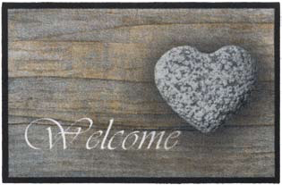 Πατάκι Mondial Welcome Stone Heart