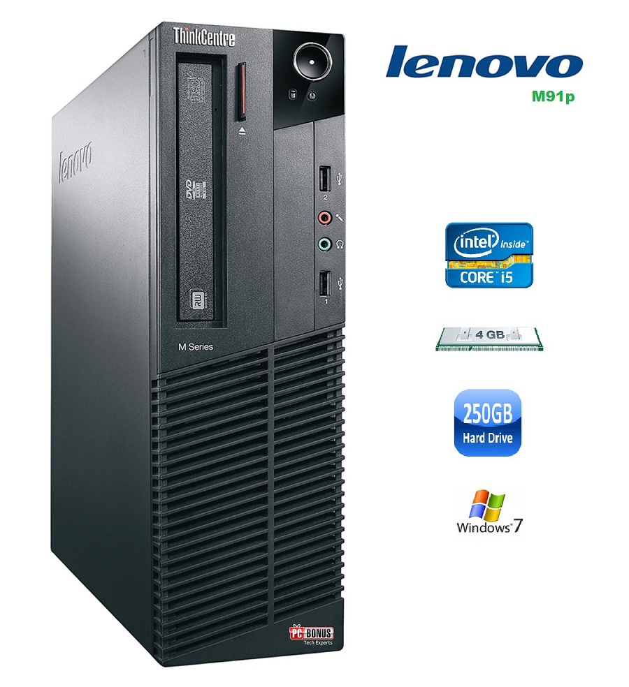 REFURBISHED LENOVO M91p i5-2400 3.40GHz SFF